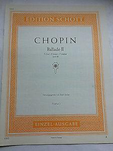 Chopin-Ballade-II-in-F-Dur-Op-38-herausgegeben-von-Emil-Sauer