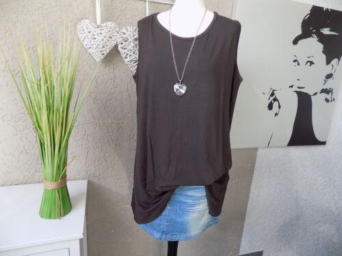 Chemise Longue Tunique Shirt Marron A-ligne taille 48 50 52 54 56 58 60 XL XXL Nouveau Chokri