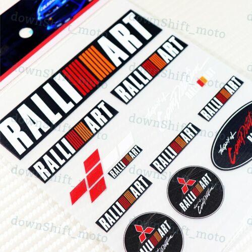Small 11pcs RALLIART Small Reflective Decal Sticker Window Vinyl For MITSUBISHI