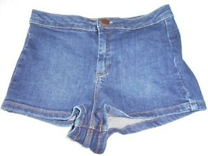 ebf2a8f198 TOPSHOP MOTO Ladies Shorts Size 8 W 26 Dark Blue Denim Cotton Blend ...