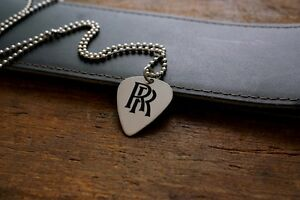 Hand-Made-Etched-Nickel-Silver-Guitar-Pick-Necklace-Randy-Rhoads-RR