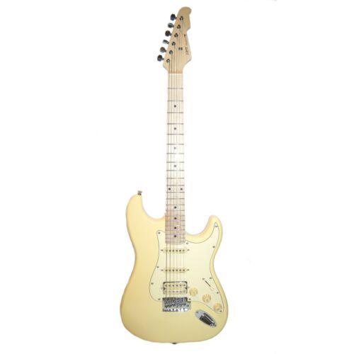 Chitarra Elettrica Stratocaster Humbucker ALNICO V by SMT colore Cream