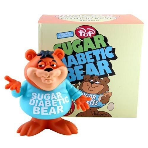 Sugar Diabetic Bear Cereal Killers by Ron English Designer 8  Vinyl Figure