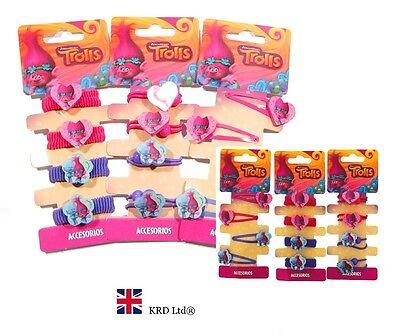 Trolls kids hair band TROLLS HAIR ACCESSORIES Poppy Bobble Clips Birthday Gift