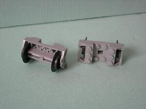 LEGO Eisenbahn Graue Radachsen//Achsen mit Rädern !!!