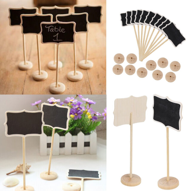 Mini Blackboard Chalkboard Rectangle With Angle Wedding Table Number Sign EV