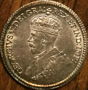 1915-CANADA-SILVER-5-CENTS-Fantastic-example