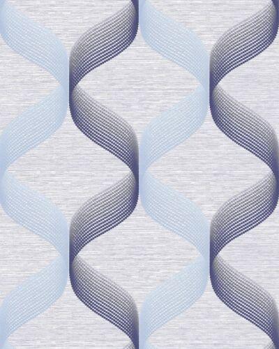 Résultat 1034-12 Retro Papier peint graphiquement ça brille bleu clair-bleu violet-bleu 5,33 mâ²