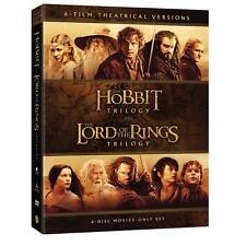 Lord of the Rings + Hobbit Movie Trilogies Complete Collection Box / DVD Set NEW