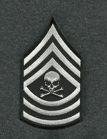 Master Sergeant Death Skull Arm Rank Insignia Biker Morale Military Patch