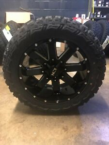 Dodge Ram 1500 Wheels And Tires Packages >> Details About 20x10 Ion 141 33 Mt Black Wheel And Tire Package Set 5x5 5 Dodge Ram 1500