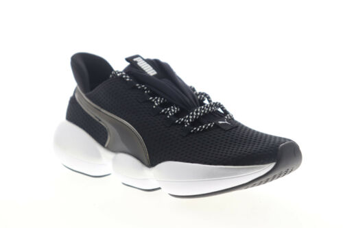 Puma Mode XT 19226601 Womens Black Leather Lace Up Athletic Cross Training Shoes