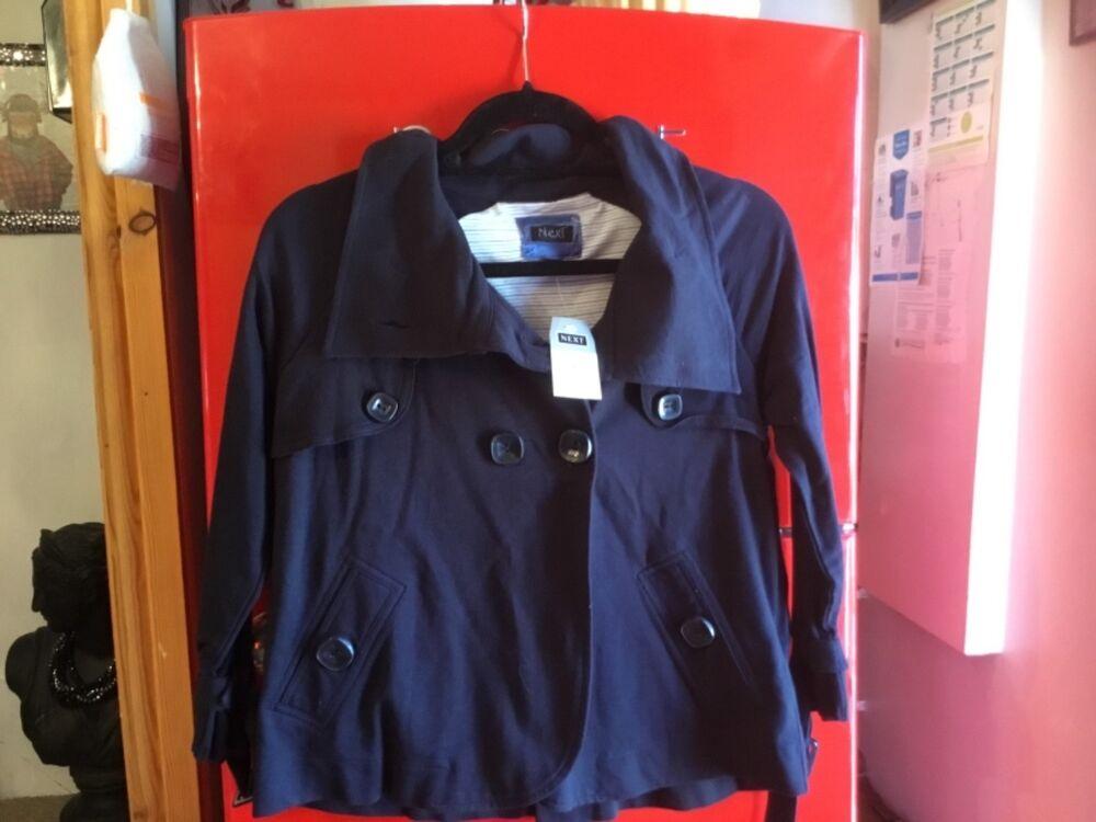 Next Taille 8 Bleu Marine D Veste à Boutonnage Smart Neuf Avec étiquettes Vacances D'été