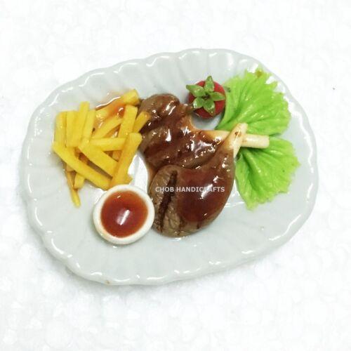 Home decor mini food model miniature groceries lamb steak accessories dollhouse