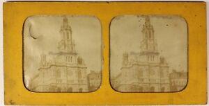 Parigi-Eglise-Da-La-Sainte-Trinita-Foto-Stereo-Diorama-Vintage-Albumina-c1870