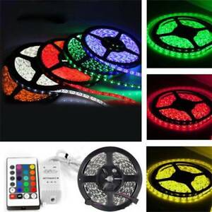 5M-5050-RGB-300-LED-Non-Waterproof-SMD-Flexible-Light-Strip-DC12V-24key-Remote