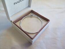 New w/BOX -GIFT SET Pandora LARGE Silver Bangle Bracelet 21 CM 590713-21 8.3 in