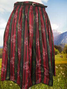 Trachten Trachten Coton Bande Imprim Rouge Alpen Jupe Jupe dg4qwctx