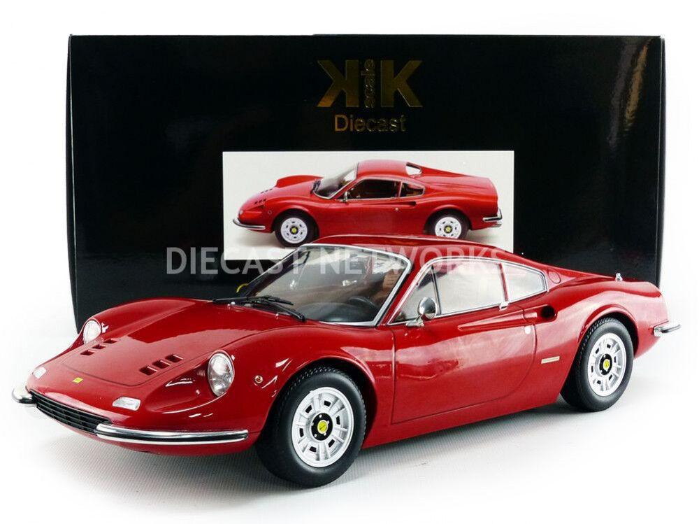 Kk Scale 1973 Ferrari Dino 246 Gt  Rojo  Le de 600 1 12 Escala Nueva Versión