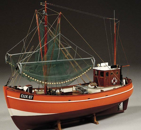 Cux 87 Krabbenkutter Fishing Trawler 1 33 Scale - Billing Boats Wooden Ship Kit