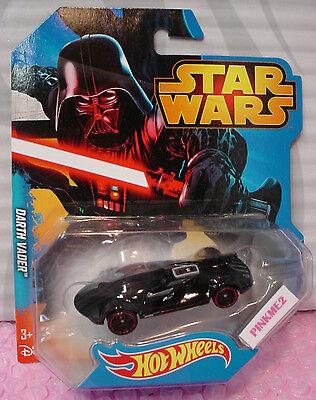 2014//2015 Disney STAR WARS Hot Wheels ✰ DARTH VADER ✰black; red rim pr5 ✰ 1//64th