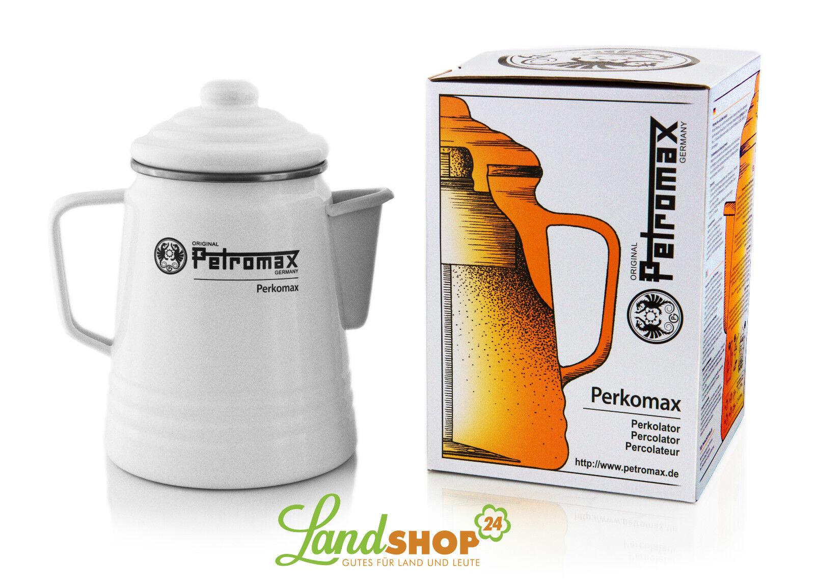Petromax Perkolator PER-9-W Tee Kaffee Kanne Emaille Weiß Camping Outdoor Zelten
