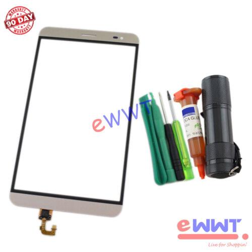 FREE SHIP for Huawei Honor X2 GEM-701L Gold LCD Digitizer Glass+UV Glue ZVLU146
