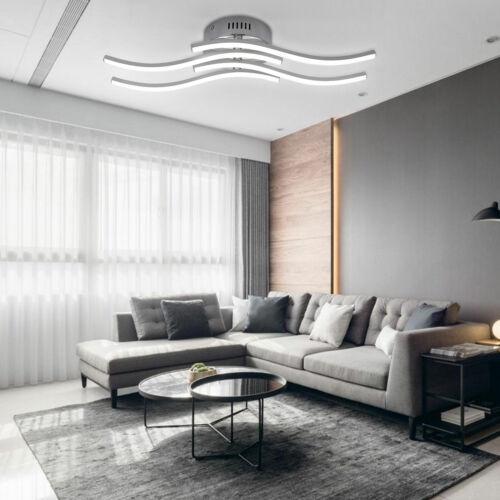 4*3.4W LED Design Deckenlampe Wellenlicht Wohnzimmer Deckenleuchte Wellenoptik