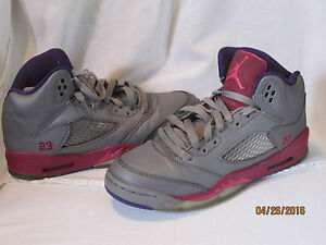 huge selection of 03eae 7435c Image is loading Girls-5-5y-5-5-Nike-Air-Jordan-