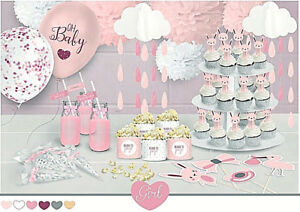 Tematica De Baby Shower Nina.Details About Pastel Pink Girl Baby Shower Party Themed Decorations Gifts Games