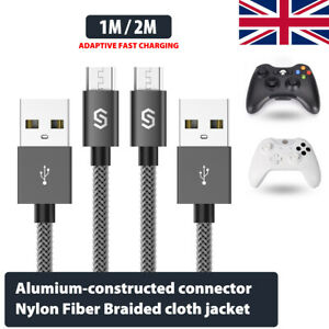 LG Tablet and More Kindle HTC Sony Nexus PS4 Micro USB Cable Syncwire Charger - 2.4A High Speed Android Charger Cable-Premium Triple Braided Nylon Micro USB Charger for Samsung Galaxy S6/S7/S4/S3/J5/J7/J3 2-Pack 3.3ft/1M