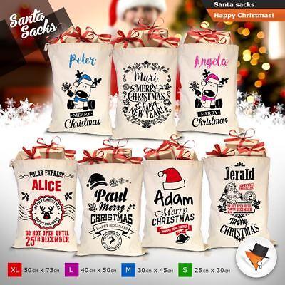 Buon Natale Calza Cotone Sacchi Iuta Borsa Regalo Di Natale Babbo Natale Sacco Giocattoli-mostra Il Titolo Originale Materiali Superiori