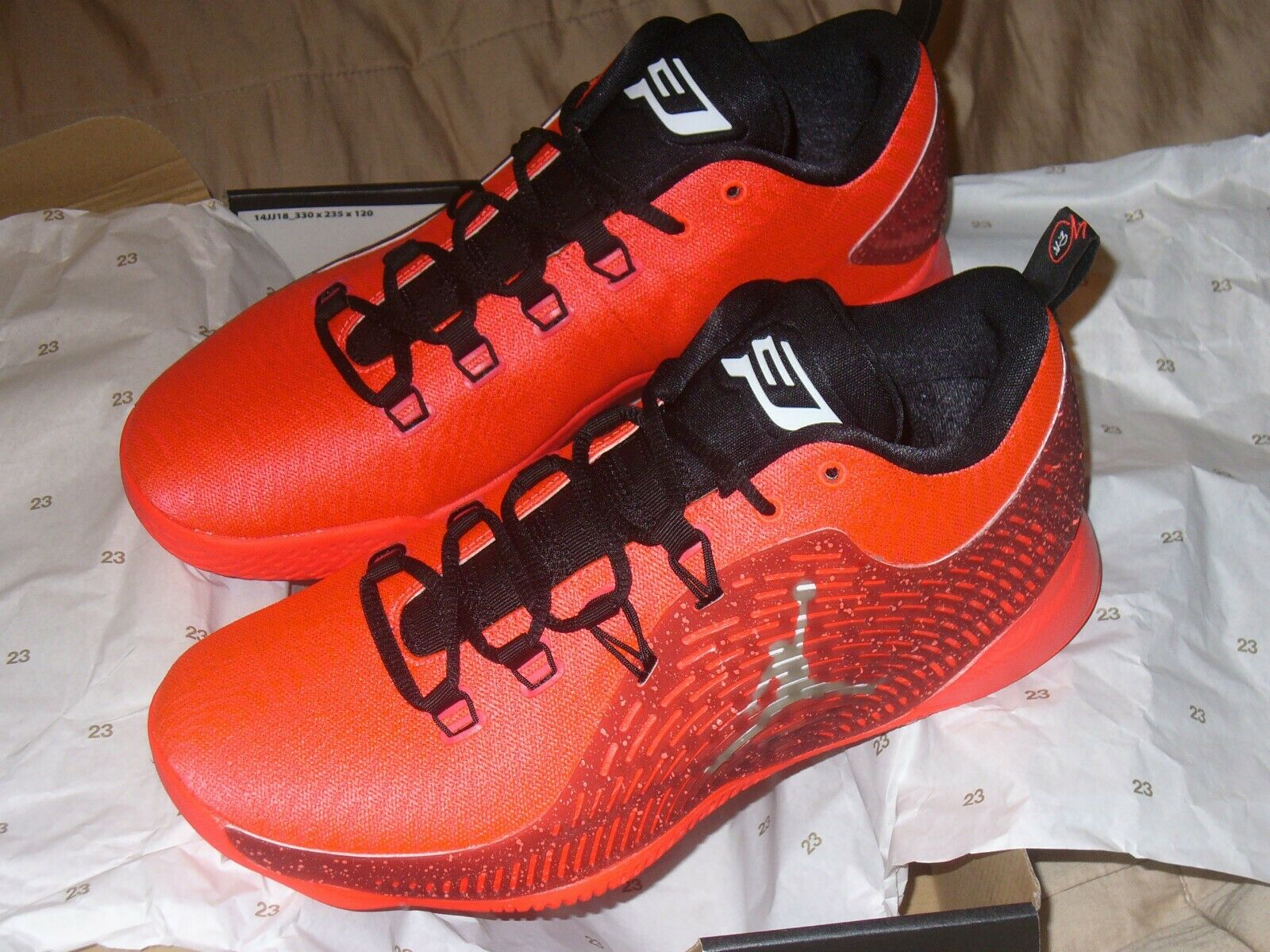 Nike Jordan CP3 X 10 Infrarojo Air 23 Rojo Negro Chris Paul 854294 600 tamaño 10D NWB