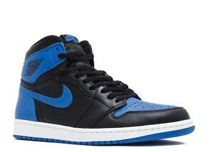 the best attitude 58a3e 0ac59 Image is loading Nike-Air-Jordan-Retro-1-Royal-Blue-OG-