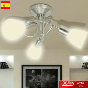 vidaXL 240983 Lámpara de Techo de Cristal para 3 Bombillas E14 - Blanca