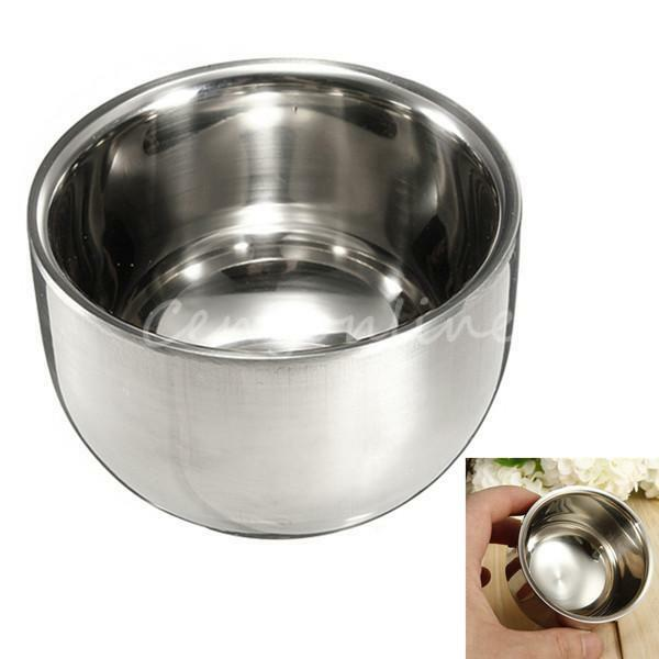 7.2cm Fashion Stainless Steel Metal Men's Shaving Mug Bowl Cup For Shave Brush