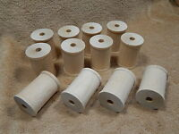 Large Hardwood Wood Wooden Wide Shank Thread Spools Lot Of 12
