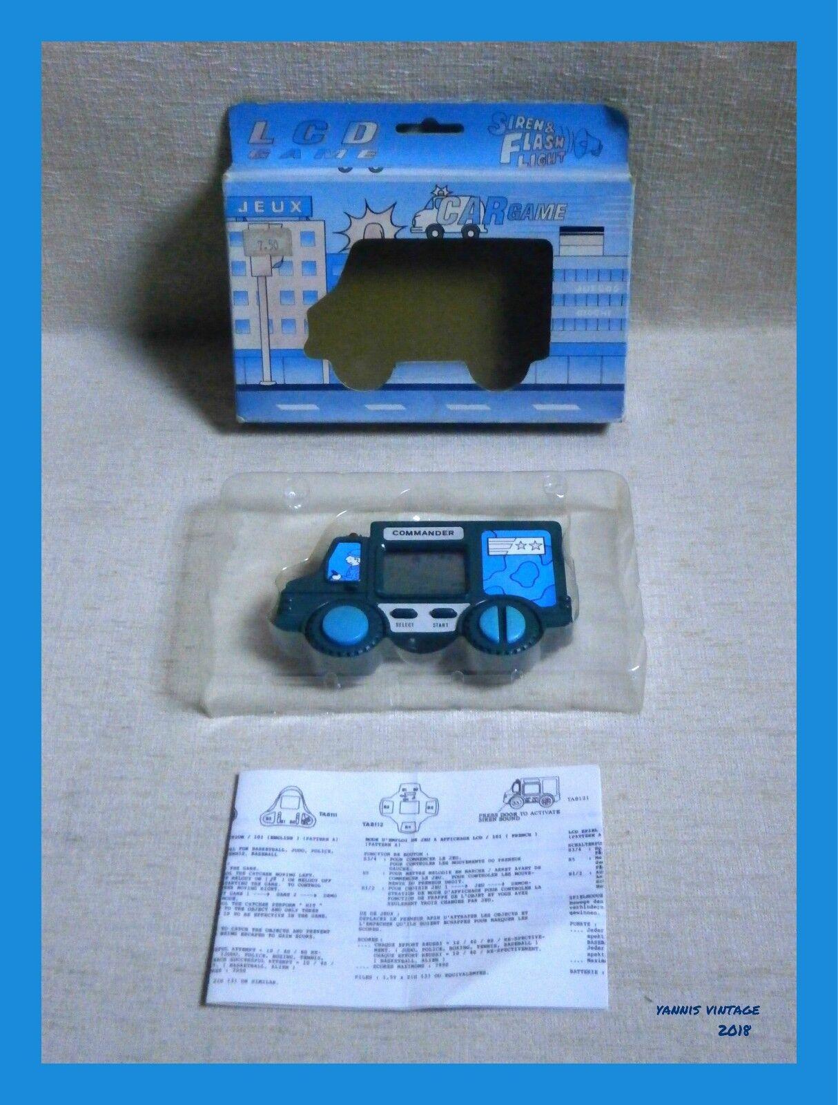 COMMANDER   NIB Handheld ELECTRONIC LCD GAME WORKING Vintage Rare 80's