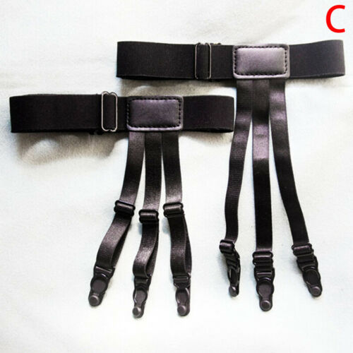 Adjustable Shirt Holder Stay Elastic Men Suspender Leg Braces Uniform/' SuspTPI
