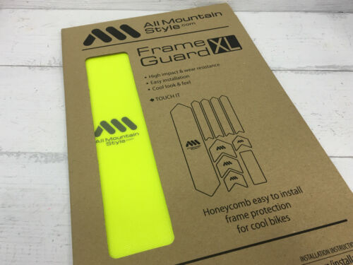 All Mountain Style AMS Frame Guard XL Yellow Fluor