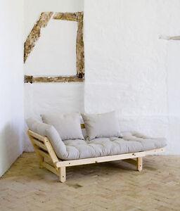 futonsofa schlafsofa g stesofa recamiere beat kiefer mit futon spezial 80x200 cm ebay. Black Bedroom Furniture Sets. Home Design Ideas