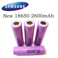 Original Samsung 2600mAh 3.7V 18650 Rechargeable Lithium Li-on Battery Cell