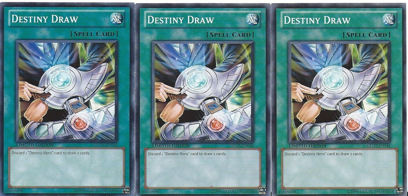 Destiny Hero 50 Card Lot - Destiny Hero Malicious - Draw + Bonus - Yugioh