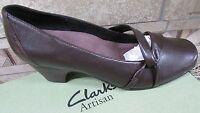 Clarks Artisan Sugar Plum Brown Pumps Shoes Womens 9.5 Two Inch Heels