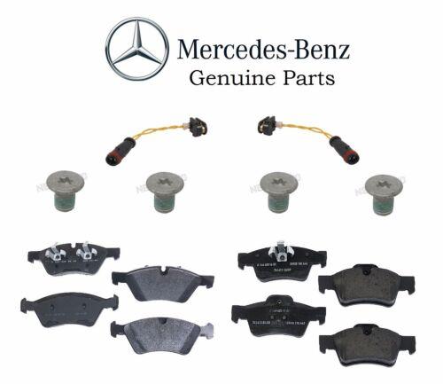 For Mercedes R350 2007 Wagon AWD Front /& Rear Brake Pads Sensors Screws GENUINE