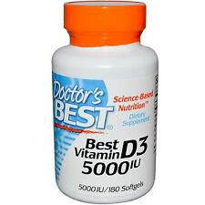 Vitamin D3 - 180 - 5000iu Softgels by Doctor's Best - Bone & Immune Support