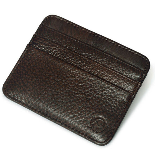 New Men/'s Genuine Leather Wallet ID Money Credit Card Slim Holder Money Pocket
