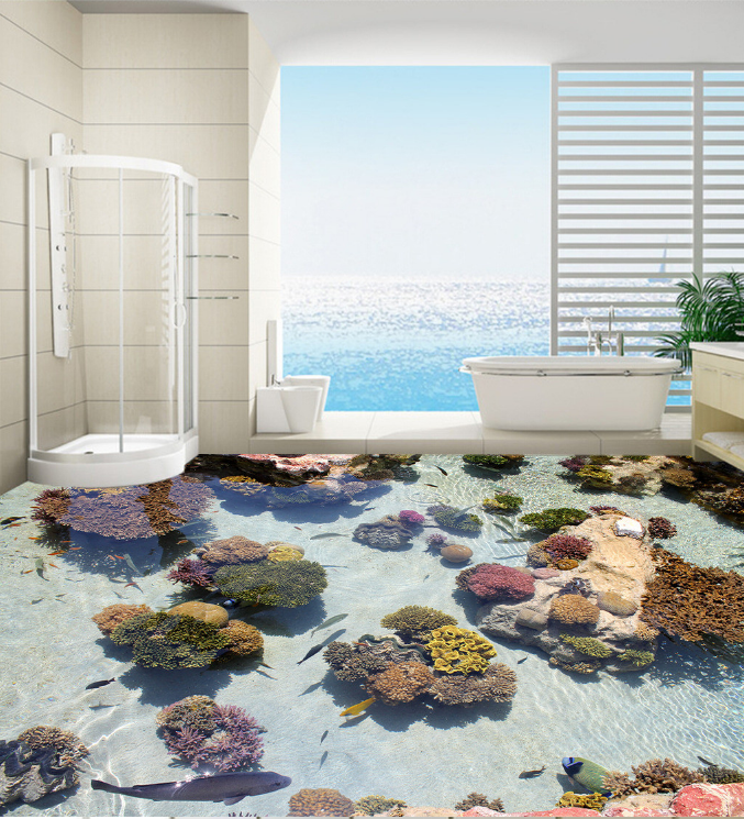 3D Bright Coral Fish 895 Floor WallPaper Murals Wall Print Decal AJ WALLPAPER US