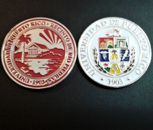 SET 12 MEDALLAS UNIVERSIDAD PUERTO RICO  UPR University College Campus Coin lot