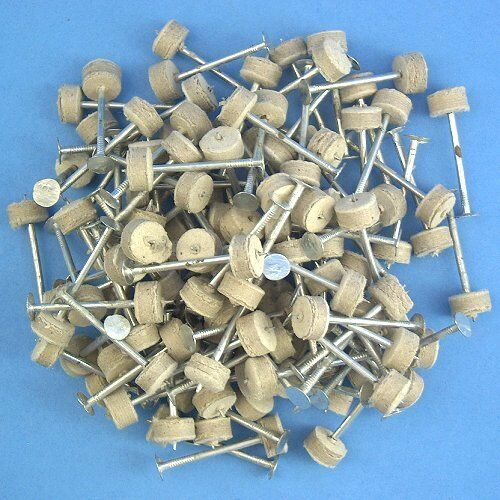 """K195 Lot of 120 Furring Nails With 0.5/""""x0.28/""""Disc 12.5 Gauge 1.75/"""" Long Free S//H"""